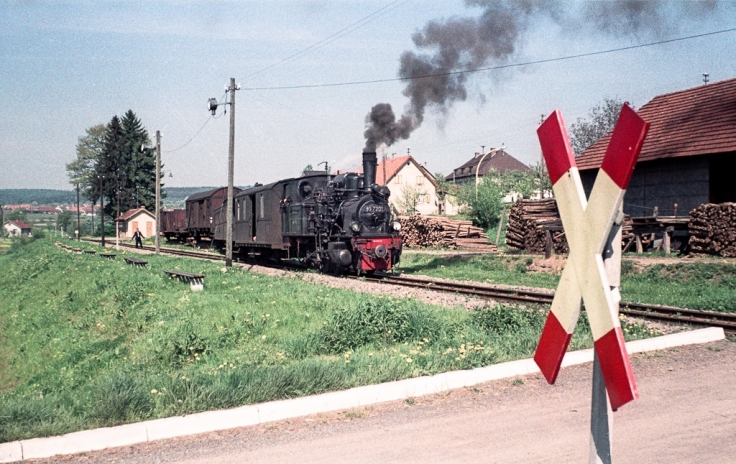 DB 99 7201 rangiert in Krumbach (Mosbach - Mudau)