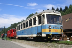 Netradiční setkání vozidel ve Vydrově, vynucené poruchou lokomotivy Tu24.001, Autor: Jan Štefek